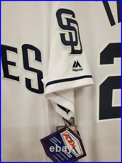 1421 San Diego Padres FERNANDO TATIS JR Authentic REAL GAME Flex Base JERSEY New
