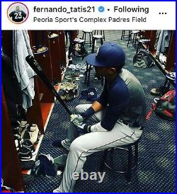 2016 Game Used FERNANDO TATIS JR Pre Rookie White Sox LS Bat Padres