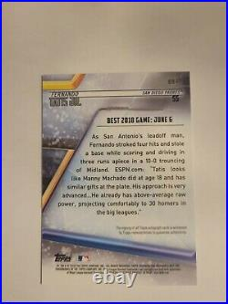 2018 Bowman's Best Fernando Tatis Jr. RC Rookie On Card AUTO San Diego Padres
