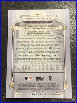2019 Bowman Sterling Fernando Tatis Jr Gold Refractor /50 RC Rookie Padres