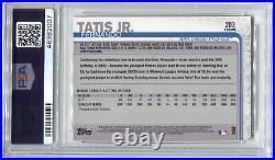 2019 Fernando Tatis Jr Topps Chrome ROOKIE Rc #203 Padres PSA 10 GEM MINT 2007