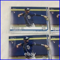 2019 Fernando Tatis Jr Topps Series 2 Rookie Card #410 5 Card Lot Padres