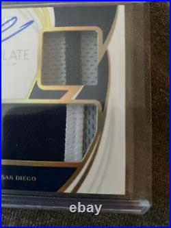 2019 Immaculate Fernando Tatis Jr RC Dual Jersey Patch Auto #49 Padres