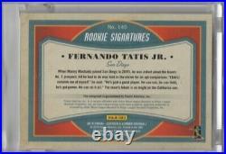 2019 Leather & Lumber Signatures Fernando Tatis Jr Auto RC Blue /99 Padres