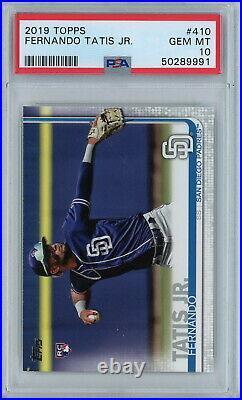 2019 Topps #410 Fernando Tatis Jr. RC PSA Gem Mint 10 San Diego Padres SS