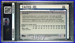 2019 Topps Chrome #203 Fernando Tatis Jr. Refractor RC PSA 10 San Diego Padres