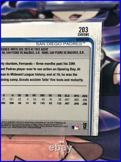 2019 Topps Chrome Fernando Tatis Jr. RC Refractor #203 Padres