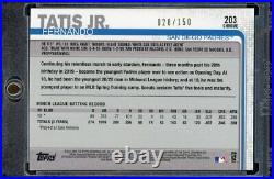 2019 Topps Chrome Fernando Tatis Jr rc blue refractor /150 San Diego Padres #203