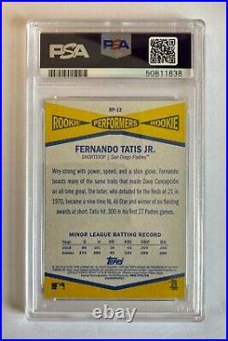 2019 Topps Heritage High Number RC Rookie Fernando Tatis Jr. PSA 10 GEM Padres