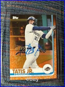 2019 Topps Pro Debut Fernando Tatis Jr RC Orange Auto Autograph /25 Padres