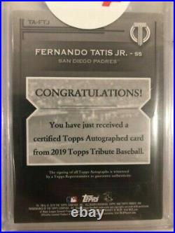 2019 Topps Tribute Blue Fernando Tatis Jr. Padres RC Rookie AUTO 96/150 MINT +