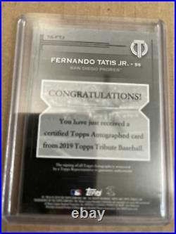 2019 Topps Tribute Fernando Tatis Jr. GREEN 7/99 RC Auto Autograph Padres Rookie