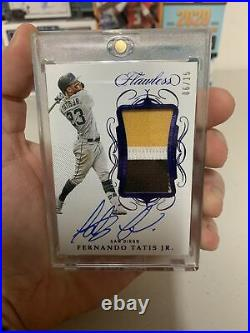 2020 Flawless Baseball Fernando Tatis Jr Patch Autograph Auto #6/15 Padres