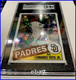 2020 Topps 85 Chrome Sp Fernando Tatis Jr Auto 15/30 Padres 9/10 Sgc