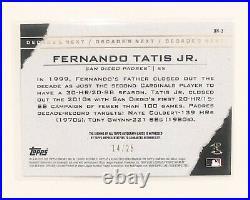 2020 Topps Decades Next Fernando Tatis Jr Auto /25 #DN-3 Padres Autograph SSP