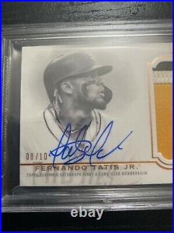 2020 Topps Dynasty Fernando Tatis Jr. Auto Patch ON CARD #8/10 Padres MLB BGS9