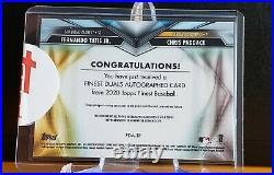 2020 Topps Finest Fernando Tatis Jr/ Chris Paddack Dual Auto #/50 Padres