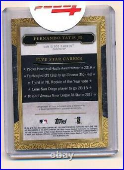 2020 Topps Five Star Fernando Tatis Jr Blue Auto 8/25 Padres SP RED HOT