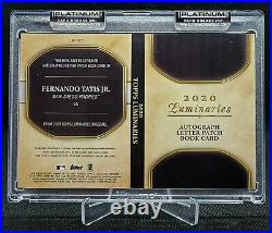 2020 Topps Luminaries Fernando Tatis Jr Letter Patch Auto Booklet 1/1 Padres