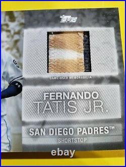 2020 Topps Major League Material Fernando TATIS Jr Sick used Patch Padres 1/1 SP