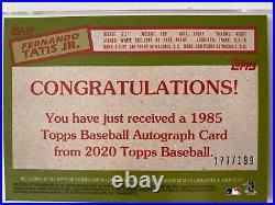 2020 Topps Series 1 Fernando Tatis Jr.'85 #85A-FT Black #177/199 Padres