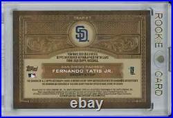 2020 Topps series 1 Fernando Tatis JR reverence autograph patch 10/10 Padres