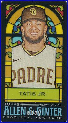 2021 Fernando Tatis Jr. Allen & Ginter Rip Stained Glass Mini #35 Padres