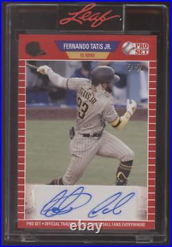 2021 Leaf Pro Set Fernando Tatis Jr. Padres Red Auto Autograph /20