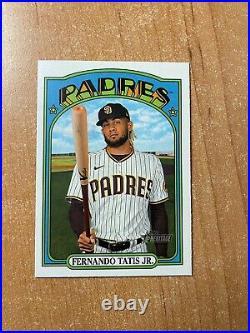 2021 Topps Heritage Fernando Tatis Jr. #137 Team Color Variation SP PADRES