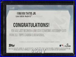 2021 Topps Stadium Club Fernando Tatis Jr. 1/1 Auto Lone Star Signatures Padres