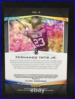 #/50! 2019 Panini Ascension Fernando Tatis Jr. Rookie #3 San Diego Padres Rc