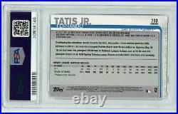 FERNANDO TATIS JR 2019 Topps Chrome ROOKIE Card RC Non-Auto #203 PSA 9 PADRES