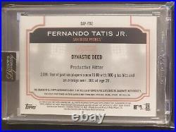 FERNANDO TATIS JR 2020 Topps Dynasty 1/5 Patch AUTO Nasty Patch San Diego Padres