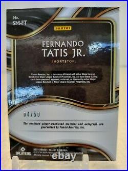 FERNANDO TATIS JR. AUTO JERSEY #/50 2021 Panini Select Signature Material Padres