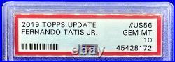 Fernando Tatis Jr. 2019 Topps Update Rookie Card Rc #us56 Padres Gem Mint Psa 10
