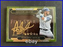 Fernando Tatis Jr. 2020 Five Star Golden Graphs On Card Auto /15 Padres