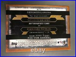 Fernando Tatis Jr. 2020 Topps Five Star Auto Autograph #14/15 San Diego Padres