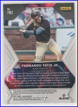 Fernando Tatis Jr 2021 Panini Prizm Fireworks Gold #2/10 Padres