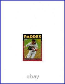 Fernando Tatis Jr, 2021 Topps, 86 Chrome, Silver Pack, Red, # 1/5, Padres