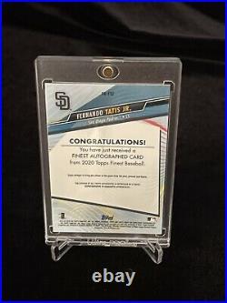Fernando Tatis Jr Auto (on card) 2020 Topps Finest Auto San Diego Padres