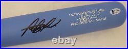 Fernando Tatis Jr. Autographed Blue Victus Game Model Bat Padres Beckett 192528