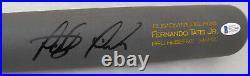 Fernando Tatis Jr. Autographed Gray Victus Game Model Bat Padres Beckett 189443