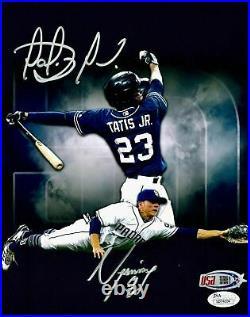 Fernando Tatis Jr. Luis Urias Padres Signed 8x10 Photo USA SM / JSA Auth