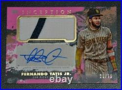 Fernando Tatis Jr. Padres 2021 Topps Inception Pink Patch Autograph Auto # 29/75