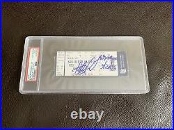 Fernando Tatis Jr Signed MLB Debut Ticket Stub Inscribed PSA/DNA SLABBED Padres