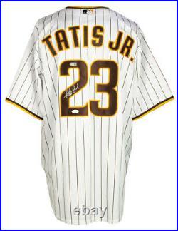 Fernando Tatis Jr. Signed San Diego Padres White Nike Baseball Jersey JSA
