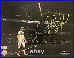 Padres Fernando Tatis Jr. Signed 16x20 Photo Bat Flip Beckett BAS Witnessed
